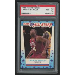 1989-90 Fleer Stickers #4 Charles Barkley (PSA 8)