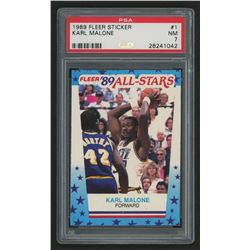 1989-90 Fleer Stickers #1 Karl Malone (PSA 7)