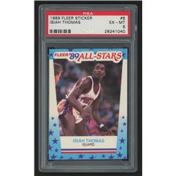 1989-90 Fleer Stickers #6 Isiah Thomas (PSA 6)