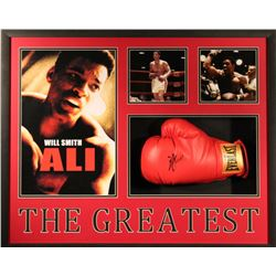 "Will Smith Signed ""Ali"" 30x25x4 Custom Framed Shadowbox Boxing Glove Display (PSA COA)"