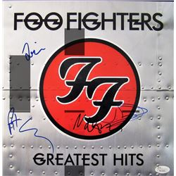 "Foo Fighters ""Greatest Hits"" 12x12 Album Cover Photo Signed by (4) with Dave Grohl, Nate Mendel, Tay"