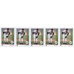 Lot of (5) 1989 Upper Deck #17 John Smoltz RC