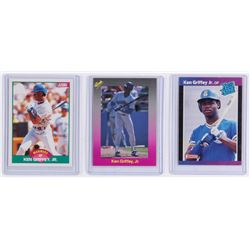 Lot of (3) Ken Griffey Jr. Rookie Cards