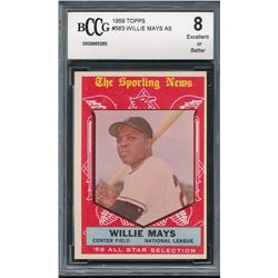 1959 Topps #563 Willie Mays AS (BCCG 8)