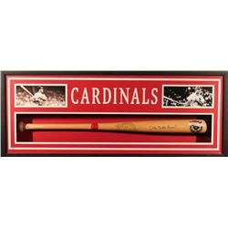 "Stan ""The Man"" Musial Signed Cardinals 19x39x4 Custom Framed Shadowbox Bat Display (JSA COA)"