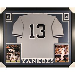 Alex Rodriguez Signed Yankees 36x44 Custom Framed Jersey (PSA COA)