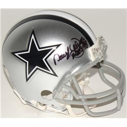 "Daryl Johnston Signed Cowboys Mini Helmet Inscribed ""Moose"" (Radtke COA)"