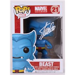 "Stan Lee Signed ""Beast"" Marvel POP! Vinyl Figure (Lee Hologram  Radtke COA)"