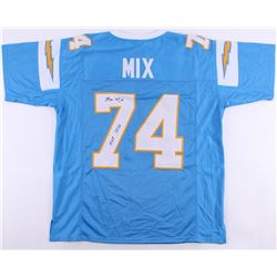 "Ron Mix Signed Chargers Jersey Inscribed ""HOF 1979"" (JSA COA)"