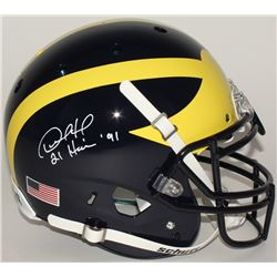 "Desmond Howard Signed Michigan Wolverines Full-Size Authentic Helmet Inscribed ""Heisman 91"" (Radtke"