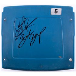 "Dennis Rodman Signed Silverdome Stadium Blue #5 Game-Used Seatback Inscribed ""Bad Boys"" (Schwartz CO"