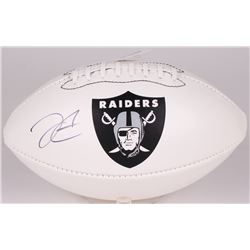 Derek Carr Signed Raiders Logo Football (Radtke Hologram  NSD Hologram)