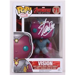 "Stan Lee Signed Vision ""Avengers"" Marvel POP! Vinyl Figure (Lee Hologram  Radtke COA)"