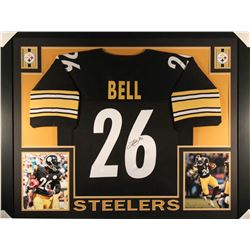 Le'Veon Bell Signed Steelers 36x44 Custom Framed Throwback Jersey (JSA COA)