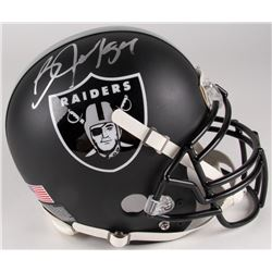 Bo Jackson Signed Raiders Custom Matte Black Full-Size Authentic On-Field Helmet (Jackson Hologram)