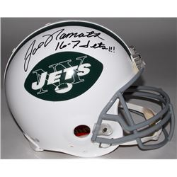 "Joe Namath Signed Jets Full-Size Authentic On-Field Throwback Helmet Inscribed ""16-7 Jets!!!"" (Stein"