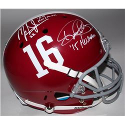 Mark Ingram  Derrick Henry Signed Alabama Full-Size Helmet (Ingram  Henry Hologram)
