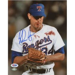 Nolan Ryan Signed Rangers 8x10 Photo (PSA COA  Ryan Hologram)