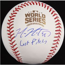 "Mike Montgomery Signed Official 2016 World Series Baseball Inscribed ""Last Pitch"" (Schwartz COA)"