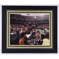 Pele Signed Brazil 23.5x27.5 Custom Framed Photo (PSA COA)