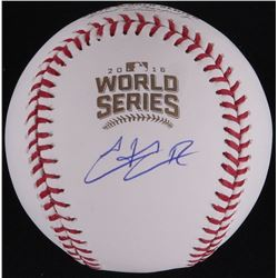 Hector Rondon Signed 2016 World Series Baseball (Schwartz COA  MLB Hologram)