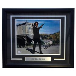 Clint Eastwood Signed 11x14 Custom Framed Photo Display (PSA LOA)