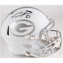 Charles Woodson Signed Packers Custom Matte White Ice Full-Size Speed Helmet (Radtke COA)