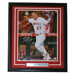 Mike Trout Signed Angels 16x20 Custom Framed Photo Display (MLB)