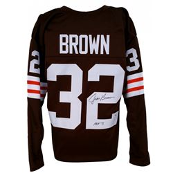 "Jim Brown Signed Browns Jersey Inscribed ""HOF 71"" (PSA COA)"