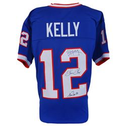 Jim Kelly, Andre Reed  Thurman Thomas Signed Bills Jersey (JSA COA)