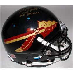 "James Winston Signed Florida State Seminoles Full-Size Authentic On-Field Helmet Inscribed ""2013 Hei"
