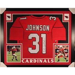 David Johnson Signed Cardinals 35x43 Custom Framed Jersey (JSA COA)