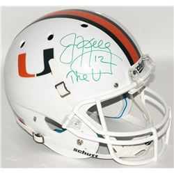 "Jim Kelly Signed University of Miami Full-Size Helmet Inscribed ""The ""U"""" (JSA Hologram)"