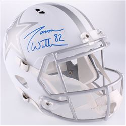 Jason Witten Signed Cowboys Full-Size Custom Matte White ICE Speed Helmet (Witten Hologram)