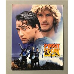 "Keanu Reeves  Patrick Swayze Signed ""Point Break"" Movie Folder (PSA LOA)"