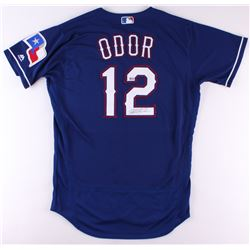 Rougned Odor Signed Rangers Jersey (MLB Hologram)