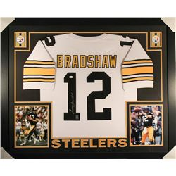 Terry Bradshaw Signed Steelers 36x44 Custom Framed Jersey (JSA COA  Bradshaw Hologram)