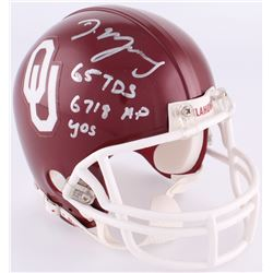 DeMarco Murray Signed Oklahoma Sooners Mini-Helmet With Extensive Inscription (Radtke COA)