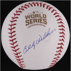Billy Williams Signed Official 2016 World Series Baseball (Schwartz COA)