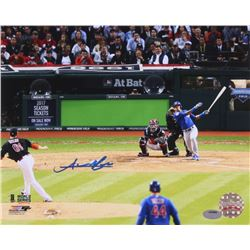 Addison Russell Signed Cubs 2016 World Series 8x10 Photo (Schwartz COA)