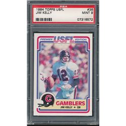 1984 Topps USFL #36 Jim Kelly RC (PSA 9)