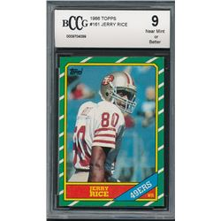 1986 Topps #161 Jerry Rice RC (BCCG 9)