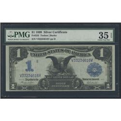 "1899 $1 One Dollar ""Black Eagle"" Silver Certificate Large Size Bank Note Bill (PMG 35)(EPQ)"