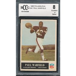 1965 Philadelphia #41 Paul Warfield RC (BCCG 8)