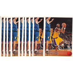 Lot of (10) 1996-97 Topps #138 Kobe Bryant RC