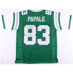 "Vince Papale Signed Eagles Jersey Inscribed ""Invicible"" (JSA COA)"