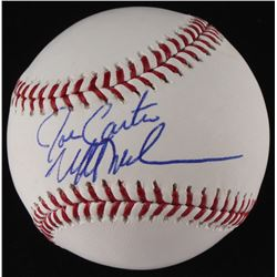 Joe Carter  Mitch Williams Signed OML Baseball (MLB Hologram)