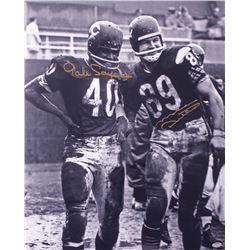 Gale Sayers  Mike Ditka Signed Bears 16x20 Photo (Schwartz COA)