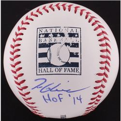 "Tom Glavine Signed OML Hall of Fame Logo Baseball Inscribed ""HOF '14"" (JSA COA)"