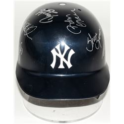 Yankees Authentic Full-Size Batting Helmet Signed by (12) with Joe Torre, Roger Clemens, David Justi